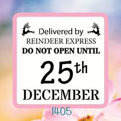 Delivered By Reindeer Express Do Not Open Until December- Reusable Craft… Do Not Open, Christmas Stencils, Stencil Diy, Reindeer, Holiday Gifts, December, Handmade Gifts, Projects, Crafts