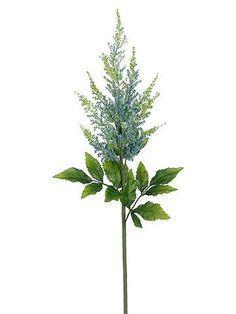 "Silk Astilbe Stem in Light Blue - 31"" Tall"