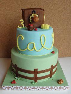 Horse-Themed Birthday Cake - Cake by Kristen