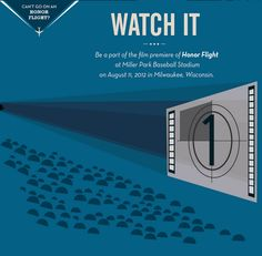 Be a part of our stadium sized screening of #HonorFlight on August 11th.