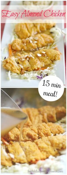 This Easy Almond Chicken Gravy Recipe will turn your boneless crispy chicken into an authentic homemade Chinese American meal in minutes! Healthy~not fried! #chicken #dinner #chinese #easy #quickdinner Almond Chicken Gravy Recipe, Chinese Almond Chicken Recipe, Easy Chinese Chicken Recipes, Chinese Recipes, Asian Recipes, Easy Family Meals, Easy Meals, Healthy Meals, Healthy Eating