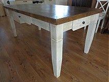Nábytok - Stôl s dubovou doskou - 3037740