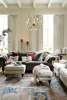 """This wam and festive living room is from our feature """"December's Buzz"""""""
