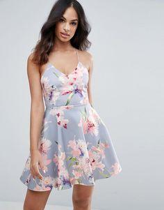 New Look Summer Floral Print Skater Dress
