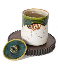 Vintage Japanese Mizusashi Water Jar