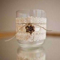 Wedding Lace Candle Holders (DIY)