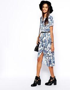 Bild 1 von ASOS – Reclaimed Vintage – Kleid mit Wickeldesign