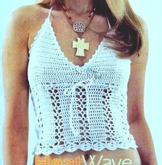 Crochet Pdf Pattern - Vintage Halter Crop Top Tunic Sweater from 1970  5 Sises: Extra small- Small- Medium-Large-Extra large  Price is for the pattern only, not the finished product.  There is no shipping charge for this item, as it is a PDF file and will be sent almost direct of payment. If you dont receive it within 24 hours, please, contact me.  All patterns are written in standard American terms.  You can always contact me if you have any problems with the pattern. This is from my own…