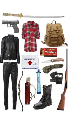 My zombie apocalypse outfit Zombie Apocalypse Outfit, Apocalypse Fashion, Zombie Apocalypse Survival, Estilo Tomboy, Badass Outfit, Spy Outfit, Mein Style, Fandom Outfits, Character Outfits