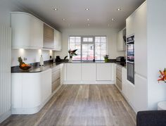Remo Matt White & Elm - Inline Kitchens kitchen