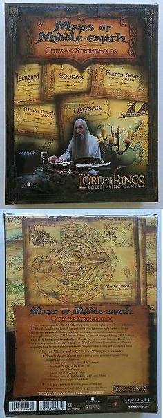 Other Role Playing Games 1183: Lord Of The Rings Maps Of Middle Earth Cities And Stronghold Lotr Rpg Sealed Box -> BUY IT NOW ONLY: $39.9 on eBay!