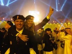 Paige Railey (sailor) and her brother at the Opening Ceremonies