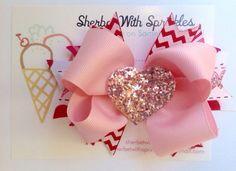 Valentine's Day Headband Valentine's Day by sherbetwithsprinkles