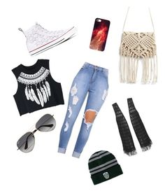 Cool Kid by lily-brooks-1 on Polyvore featuring polyvore, fashion, style, WithChic, Converse, Ray-Ban and clothing