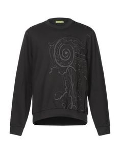 Embroidered detailing Basic solid color Round collar Long sleeves Fleece lining Versace Jeans Mens, Round Collar, Mens Sweatshirts, Long Sleeve, Sleeves, Ss, Sweaters, Fashion Design, Shopping