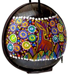 Handpainted Coco Shell Bags from Bali Indonesia
