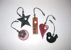 Leather Christmas Ornaments Tree by AccessoriesLeather on Etsy