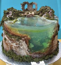 Island Cake, Ocean Cakes, Jelly Cake, Mermaid Cakes, Cake Images, Specialty Cakes, Paradise Island, Cake Tutorial, Cake Art