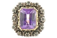 Antique Amethyst & Diamond Ring    $899.