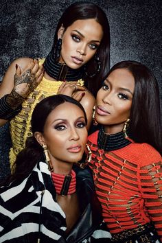 """ Rihanna, Naomi Campbell, Iman Abdulmajid For W Magazine """