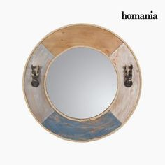 Round metal mirror by Homania
