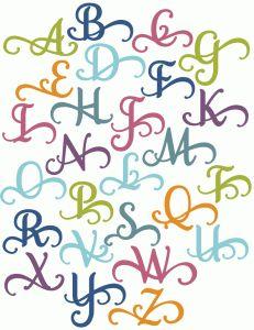 Silhouette Online Store - View Design #50268: perfect flourish alphabet monograms