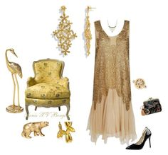 """""""Metallic Look"""" by mvoreadi ❤ liked on Polyvore featuring H&M"""