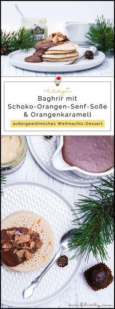 Weihnachts-Dessert: Rezept für Marokkanische Pfannkuchen (Baghrir) mit Schoko-Orangen-Senf-Soße, Orangenkaramell und Senfpralinen | Filizity.com | Food-Blog aus dem Rheinland #weihnachten #dessert #BORNsinternational #BORN