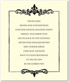0f97e3f033fa599082aa44da25b467a1 holiday party invitations event invitations corporate invitations antique script (*plantable) art sketches,Sample Invitation Card For Corporate Event