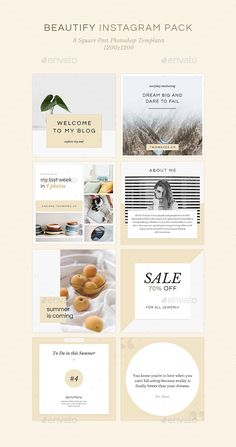 Beautify Instagram Banners Pack -  Templates PSD