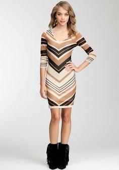 bebe Chevron Stripe 3/4 Sleeve Sweater Dress bebe, http://www.amazon.com/dp/B009TJ5HHY/ref=cm_sw_r_pi_dp_A2IPqb1MTX12Q/176-4047288-5736965