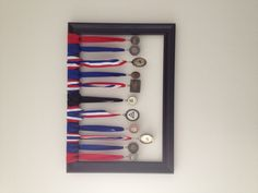 Ways to display medals @Kathy Chan Hall Fries