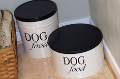 Dog Food/Treat Tins From Up-cycled Popcorn Tins