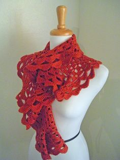colorful scarf, free crochet pattern