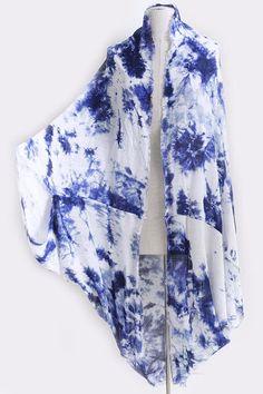 shopcocosonline.com $17 Love Yourself Tie Dye Kimono: Black, Red, Blue