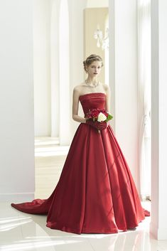 Red Wedding Gowns, Disney Wedding Dresses, Red Gowns, Beautiful Prom Dresses, Cute Dresses, Girls Dresses, Ball Dresses, Ball Gowns, Red Frock