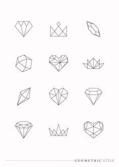 Geometric Shapes Art, Geometric Drawing, Simple Geometric Designs, Small Geometric Tattoo, Geometric Origami, Geometric Tattoo Design, Origami Design, Origami Owl, Kritzelei Tattoo