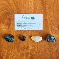 Our Gemini Crystal Set includes a beautiful combination of tumbled and rough stones specifically chosen to help Gemini, a black velvet carrying satchel, and cute informational card about what stones are included and each's intent/effect.  Makes the perfect gift for your Gemini bestie! #HealingCrystals #Zodiac #Astrology #Gemini #MossAgate #Garnet #Citrine #IndigoGabbro
