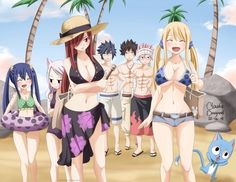 gray looks at erza and natsu at lucy again😚