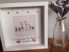 Stickmen Scrabble Box Frame Personalised Gift Wedding Birthday Mothers Day   eBay