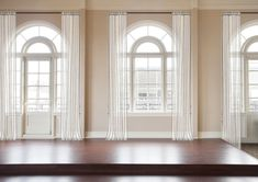 How To Dress Awkward Windows + Where To Shop For Readymade Options - Emily Henderson Arched Window Coverings, Curtains For Arched Windows, Casement Windows, Arch Windows, Ceiling Windows, Dining Room Windows, House Windows, Half Moon Window, Window Types