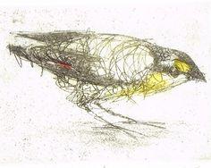 Australian Native Bird Etching Hand Pulled by BridgetFarmerArtist, $180.00