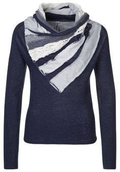 Desigual - AINA - Sweatshirt - navy vigore I'd like to make one like this using thrift store finds.