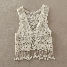 Discount China china wholesale Korean All-match Pierced Lace Tassels Shawl Vest [30120] - US$6.24 : DealsChic