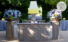 Chic outdoor cocktail bar by Todd Events