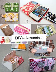 Lots of DIY wallet tutorials you'll love! #DIY #wallet #tutorials