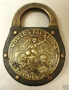 1904 WORLD'S FAIR PADLOCK by Eagle: a push key lock