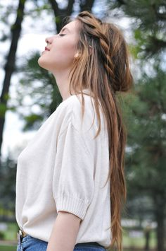 Pretty long hair braid