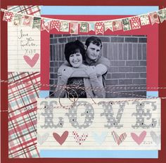 love this layout using Bazzill cardstock! true inspiration!