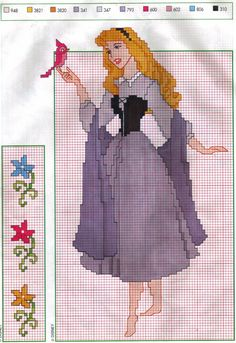 Sleeping Beauty cross stitch pattern